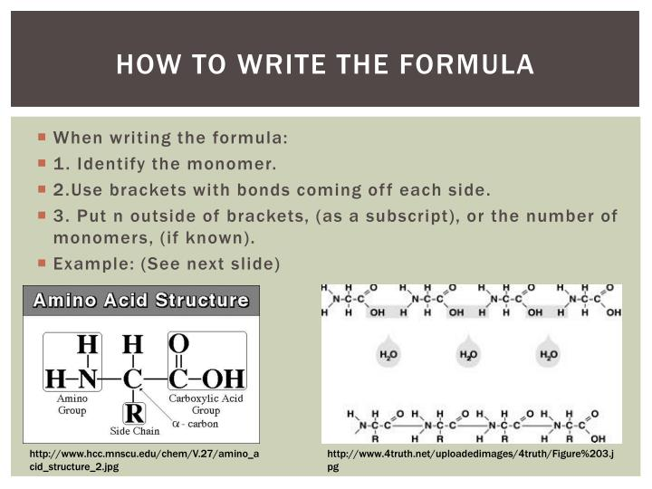 How to Write the formula