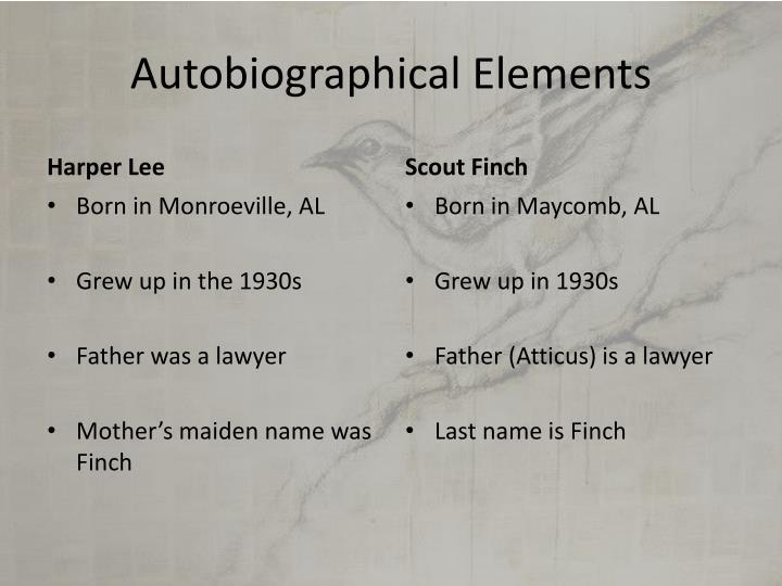 Autobiographical Elements