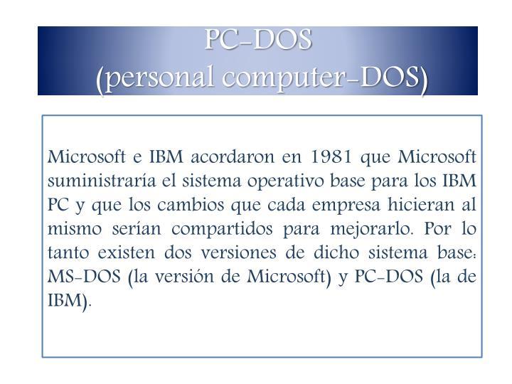PC-DOS
