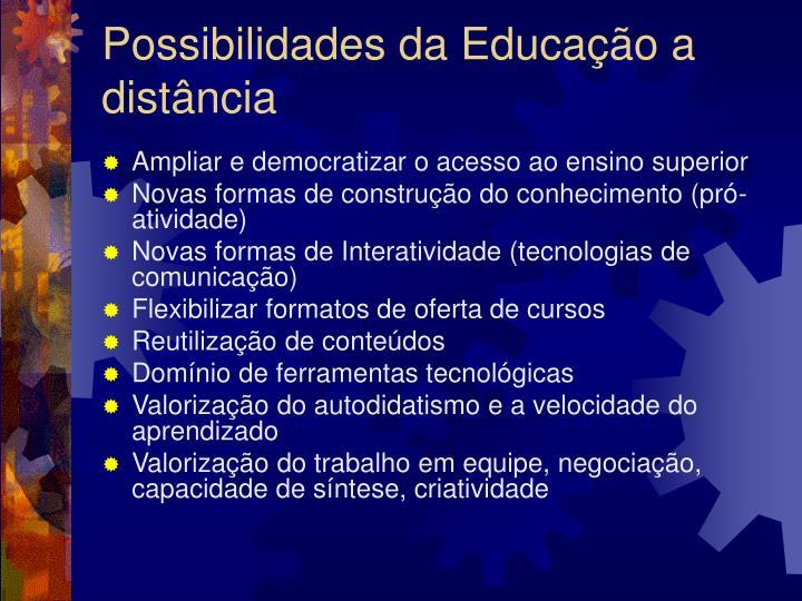 Possibilidades da Educação a distância