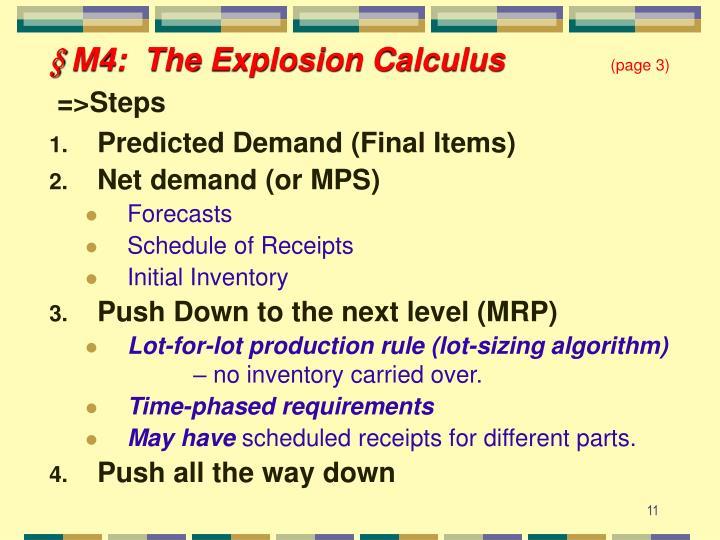 § M4:  The Explosion Calculus
