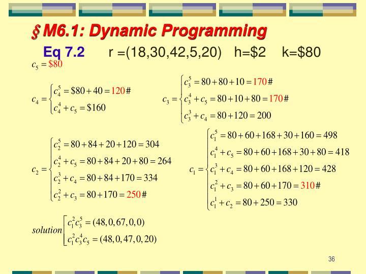 § M6.1: Dynamic Programming