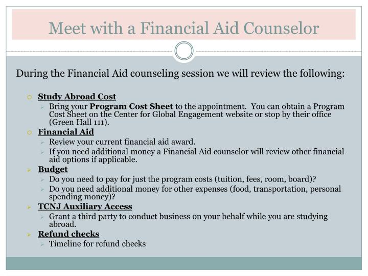 Meet with a Financial Aid Counselor