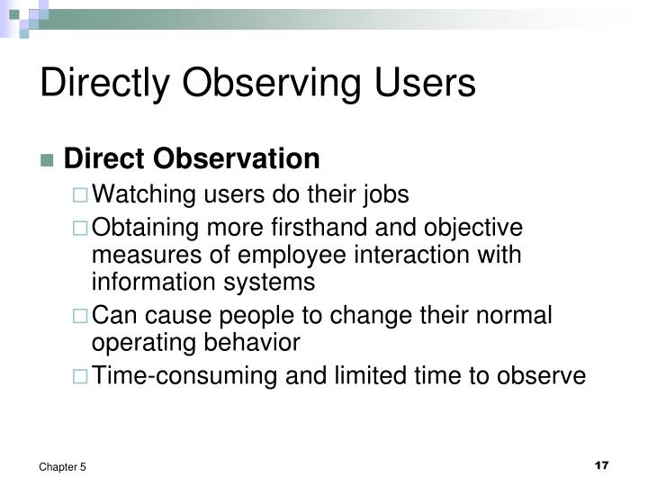 Directly Observing Users