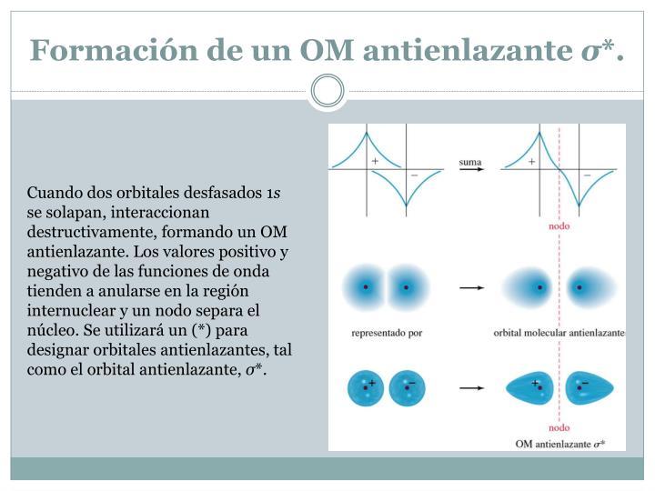 Formación de un OM antienlazante