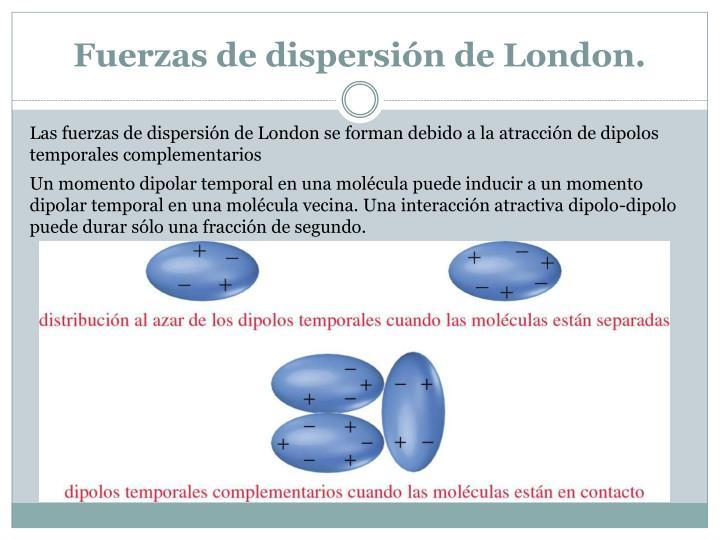 Fuerzas de dispersión de London.