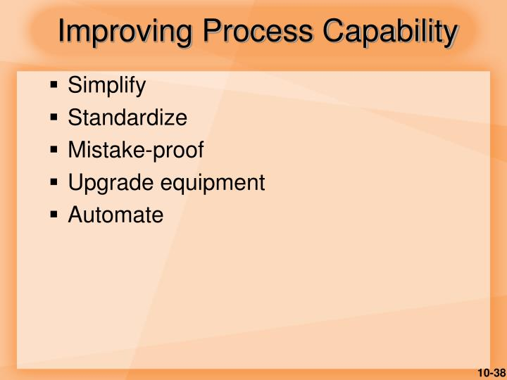 Improving Process Capability