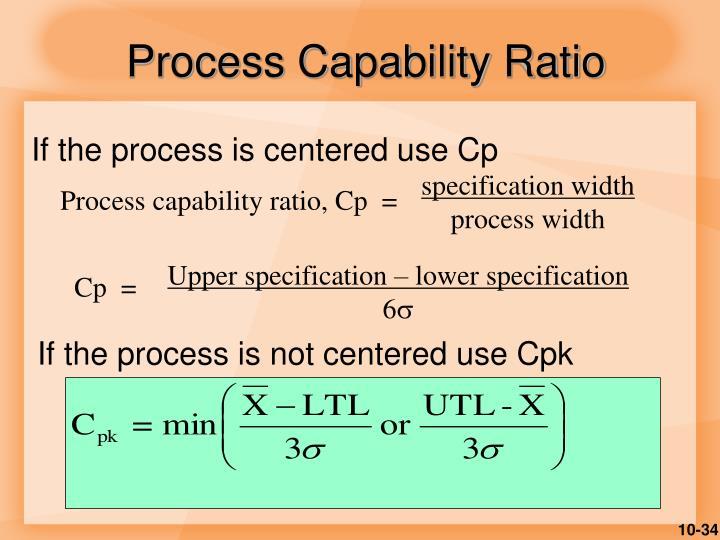Process Capability Ratio