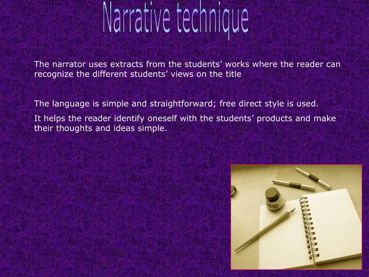 Narrative technique
