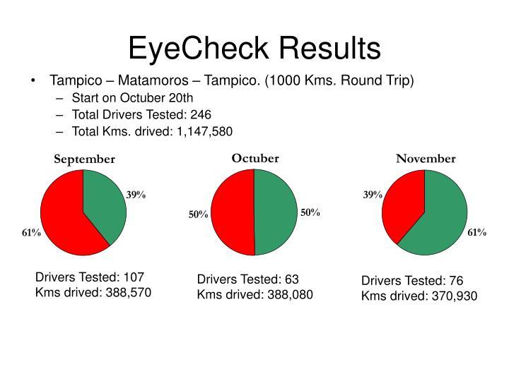 Tampico – Matamoros – Tampico. (1000 Kms. Round Trip)