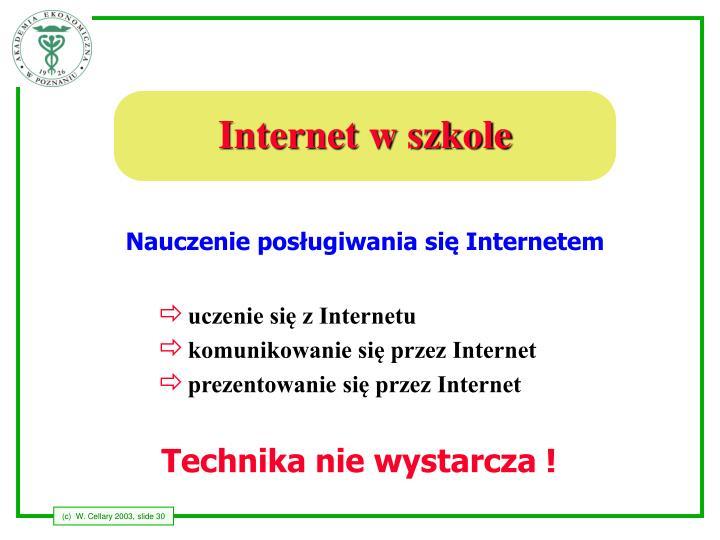 Internet w szkole