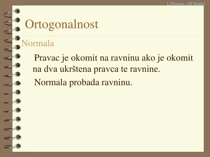 Ortogonalnost