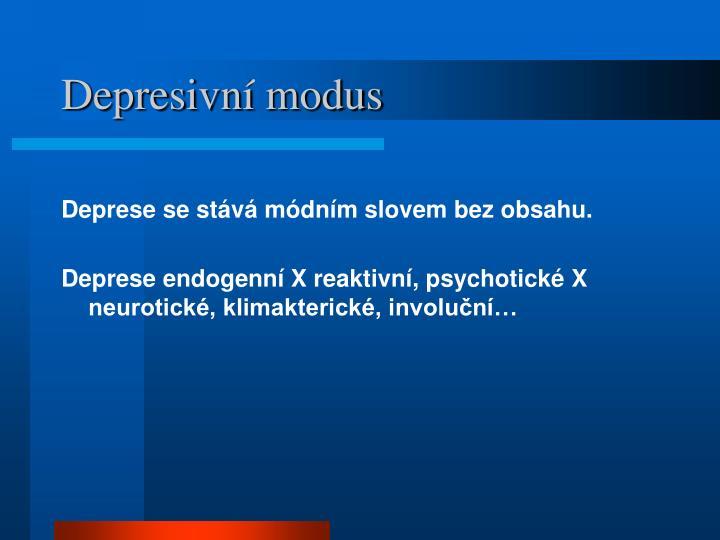 Depresivní modus