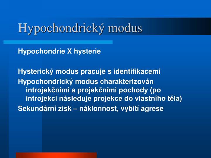 Hypochondrický modus