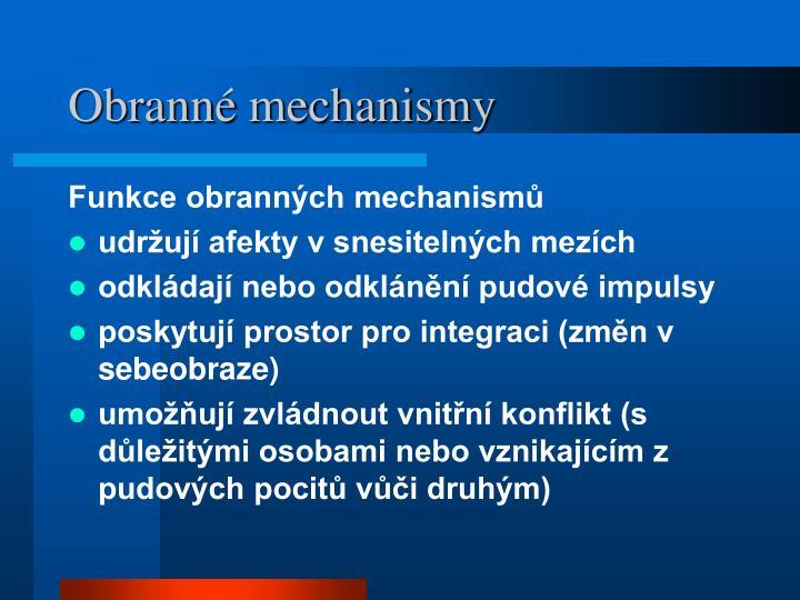 Obranné mechanismy