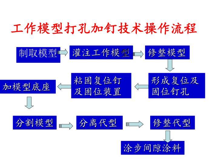 工作模型打孔加钉技术操作流程