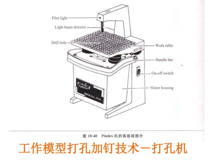 工作模型打孔加钉技术-打孔机