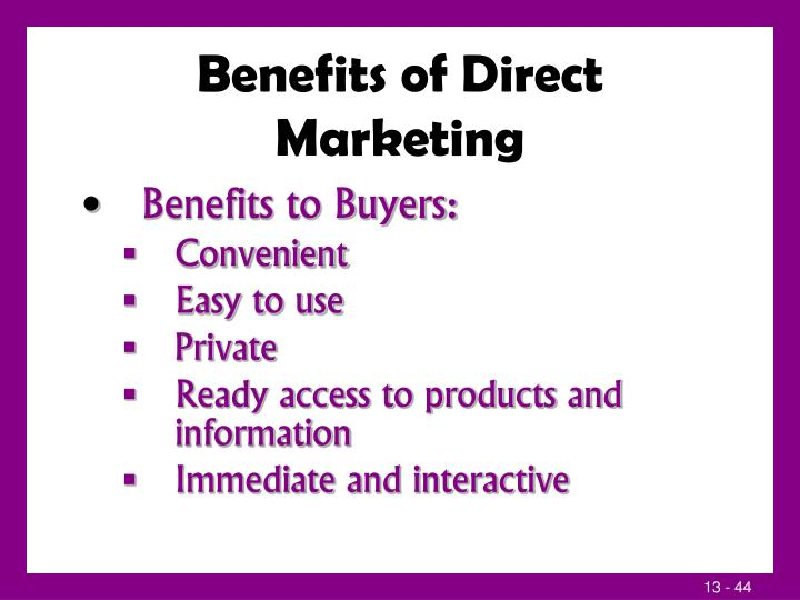 Benefits of Direct Marketing