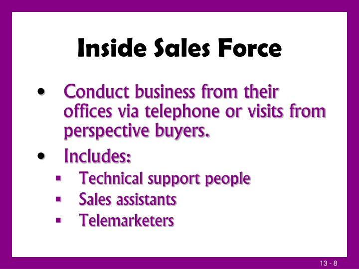 Inside Sales Force