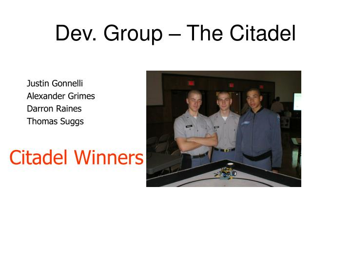 Dev. Group – The Citadel