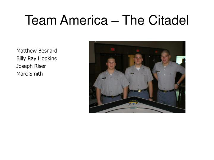 Team america the citadel