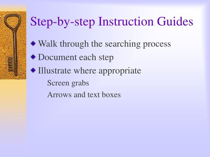 Step-by-step Instruction Guides