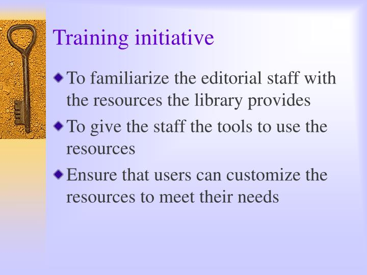 Training initiative
