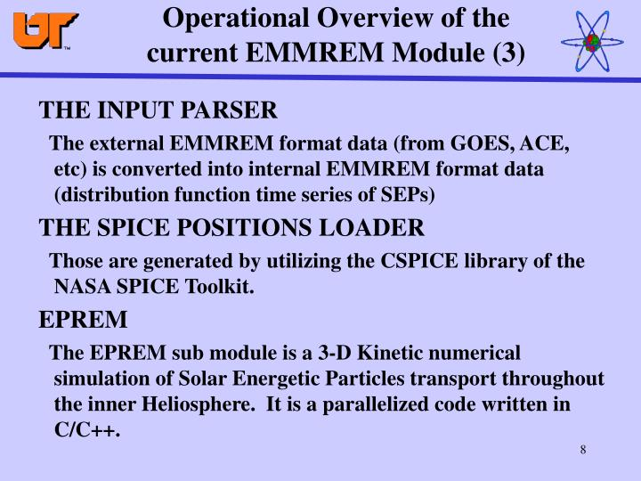 Operational Overview of the current EMMREM Module (3)