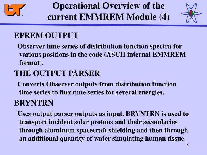 Operational Overview of the current EMMREM Module (4)