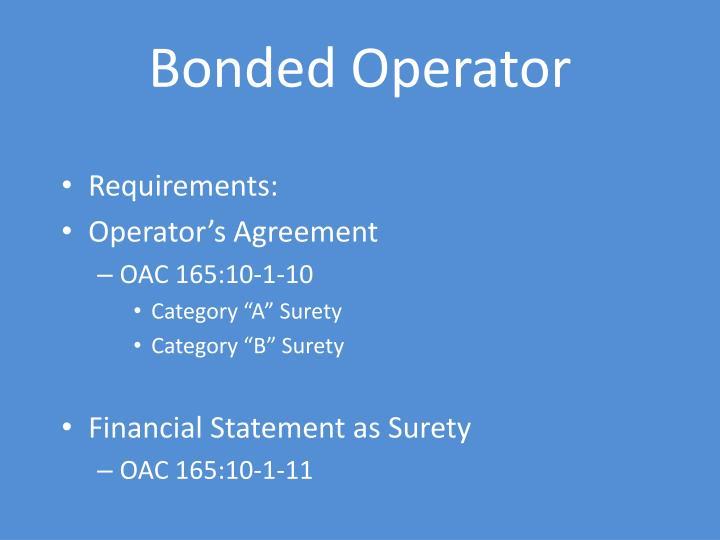 Bonded Operator