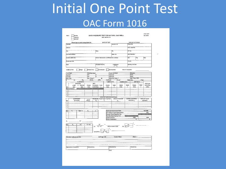 Initial One Point Test
