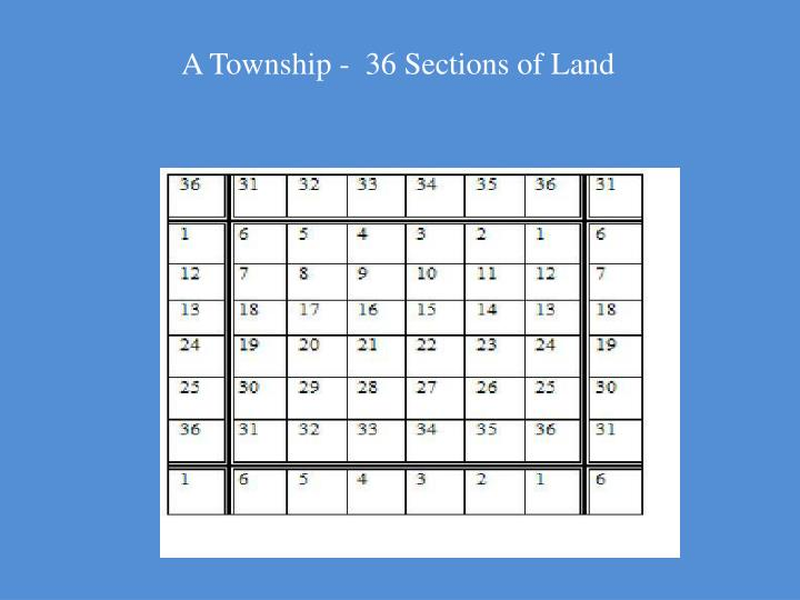A Township -  36 Sections of Land