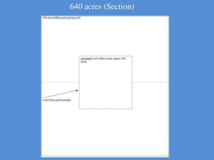 640 acres (Section)