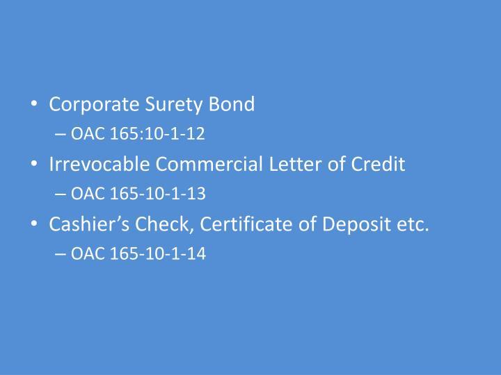 Corporate Surety Bond