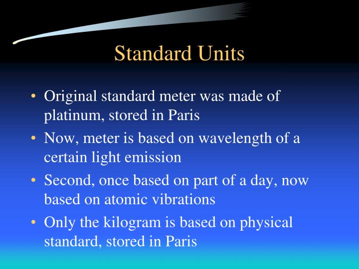 Standard Units