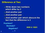 difference of two