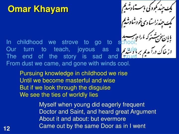 Omar Khayam