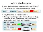 add a similar event