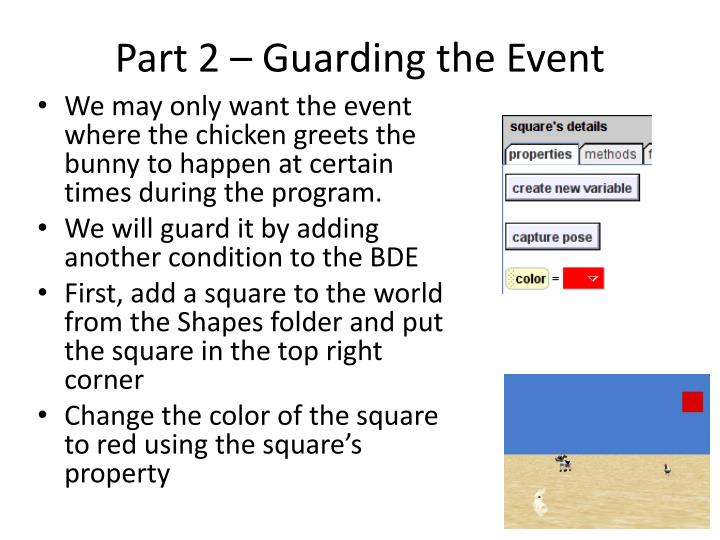 Part 2 – Guarding the Event