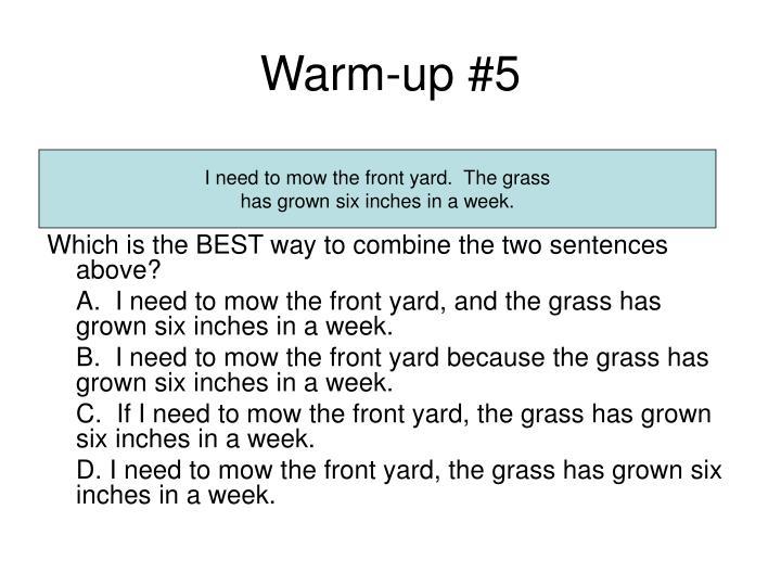 Warm-up #5