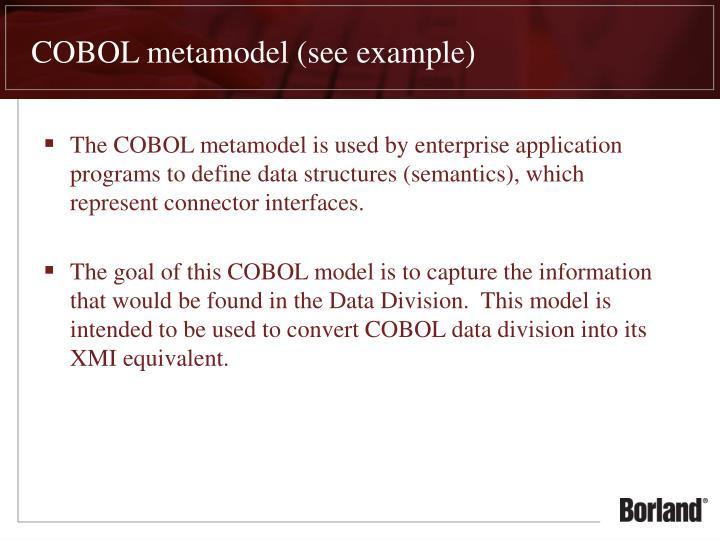 COBOL metamodel (see example)