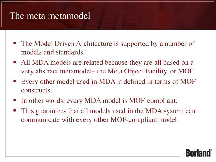 The meta metamodel