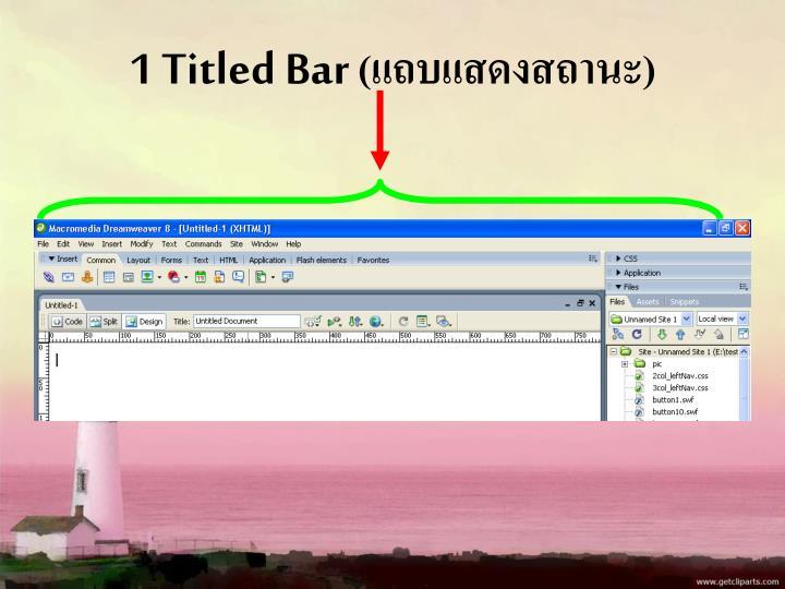 1 Titled Bar