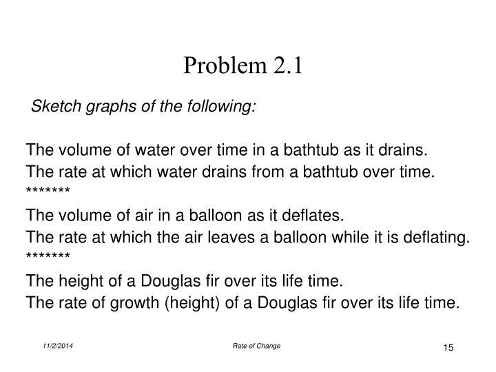Problem 2.1