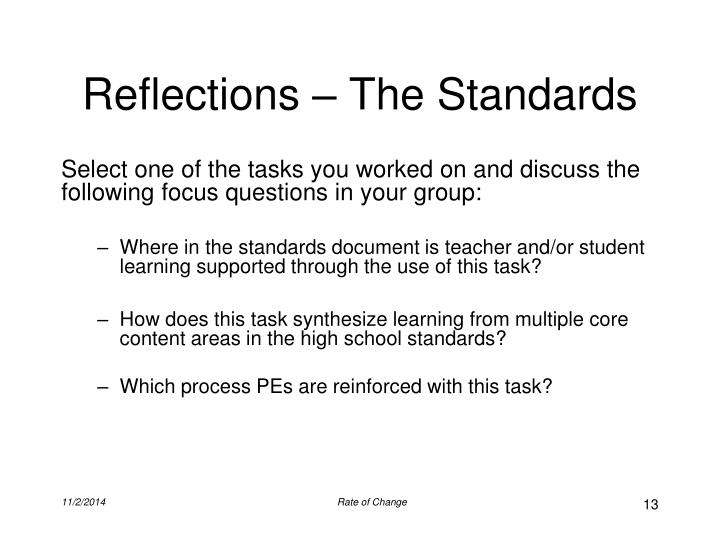 Reflections – The Standards
