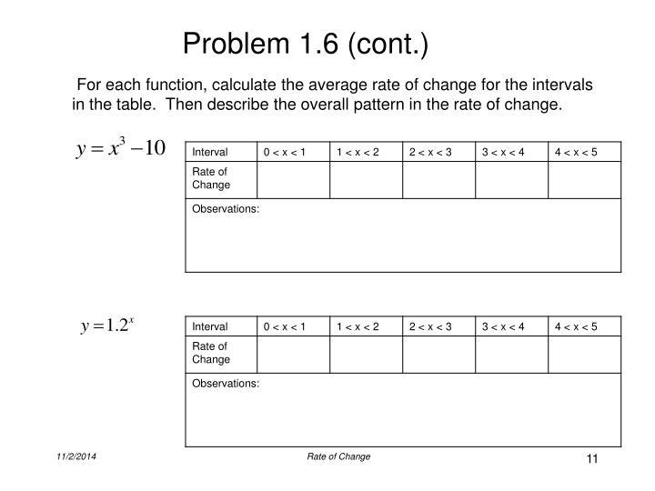 Problem 1.6 (cont.)