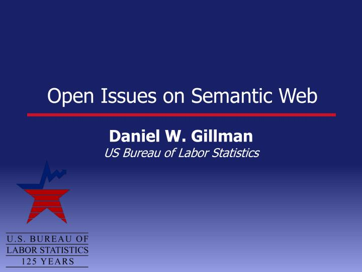 Open issues on semantic web