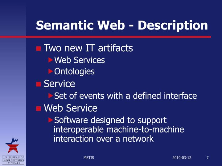 Semantic Web - Description