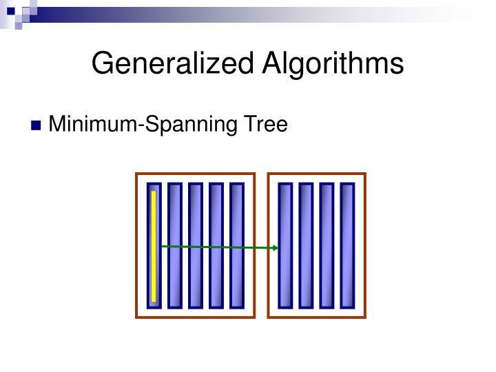 Generalized Algorithms