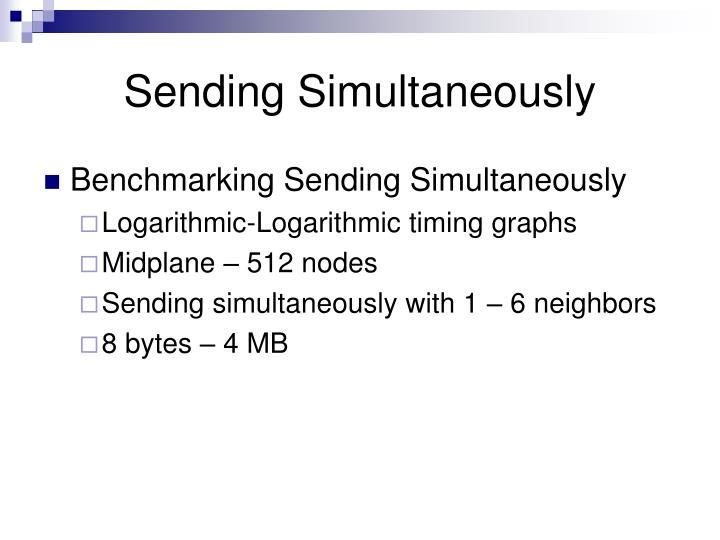 Sending Simultaneously